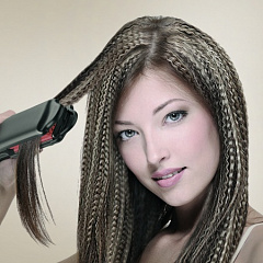 Прически с гофре с челкой на средние волосы фото