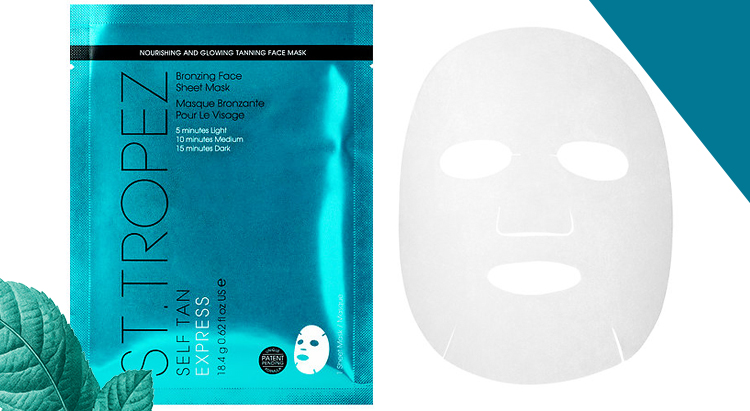 Тканевая маска Self Tan Express Bronzing Face Sheet Mask, St.Tropez