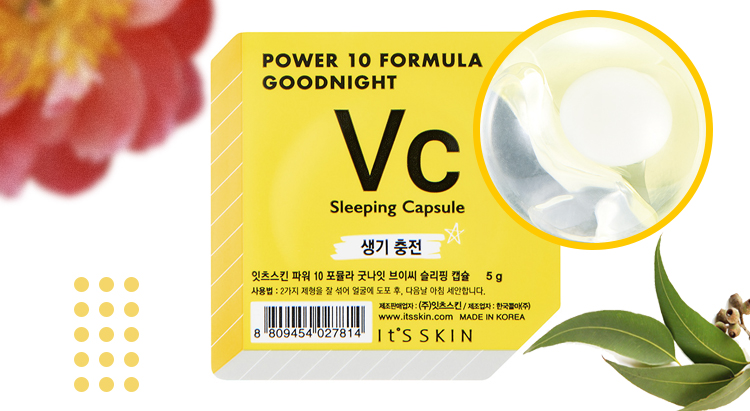 Power 10 Formula goodnight sleeping capsule VC, It's Skin