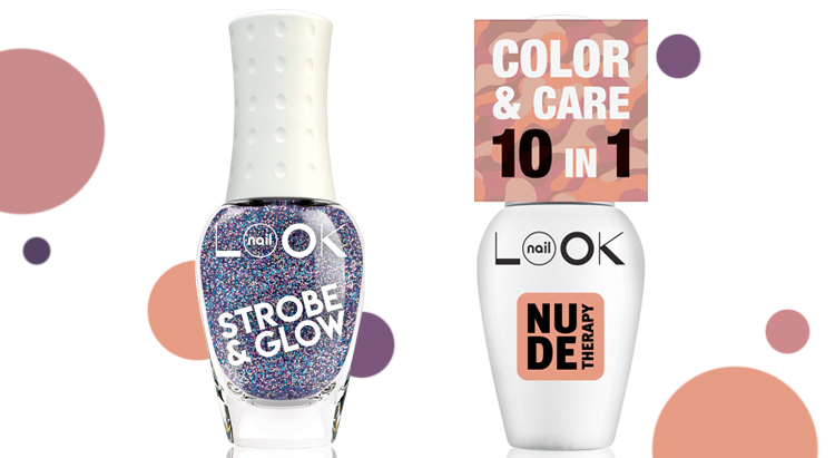 Strobe&Glow и Nude Therapy, nailLOOK
