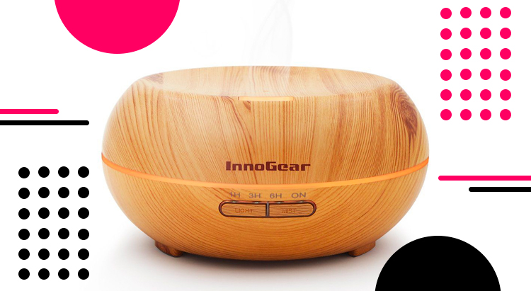 Aromatherapy Essential Oil Diffuser (Wood Grain), InnoGear