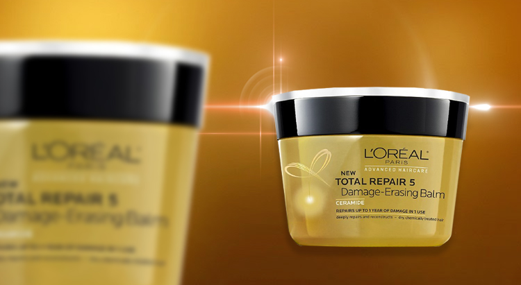 Маска-бальзам для волос Total Repair 5 Damage-Erasing Balm, L'Oreal Paris
