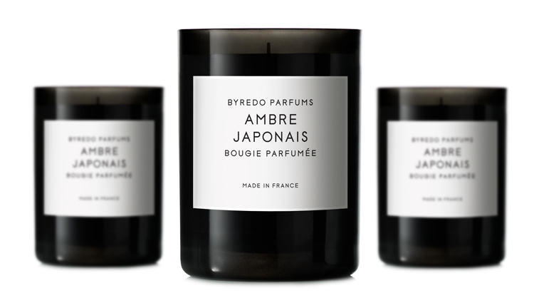Ambre Japonais Fragranced Candle Ароматическая свеча Ambre Japonais Fragranced, Byredo