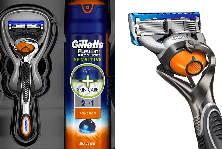 Бритва Fusion Proglide с технологией Flexball и гель для бритья Fusion ProGlide Sensitive 2-в-1 Alpine Clean от Gillette