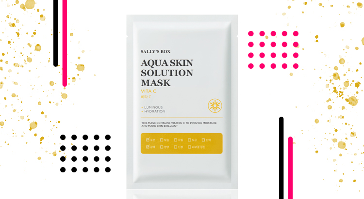 Маска с витамином С Aqua skin solution, Sally's Box