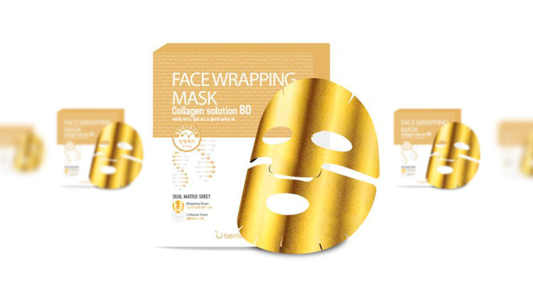 Маска для лица Face Wrapping Mask - Collagen Solution 80, BERRISOM