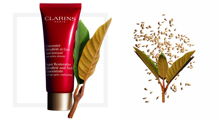 Концентрат для шеи и декольте Super Restorative, Clarins