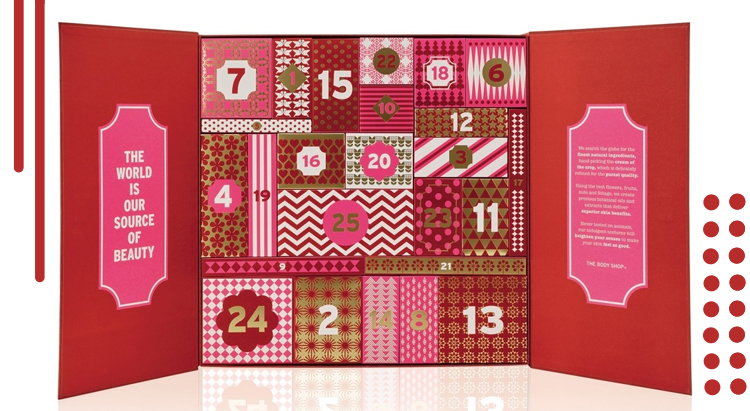 The Body Shop 24 Happy Days Deluxe Advent Calendar